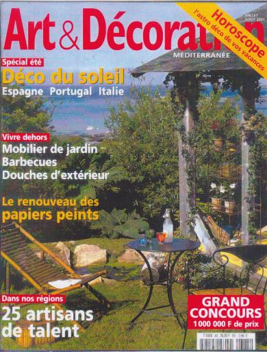 magazine art et décoration 2001 couverture
