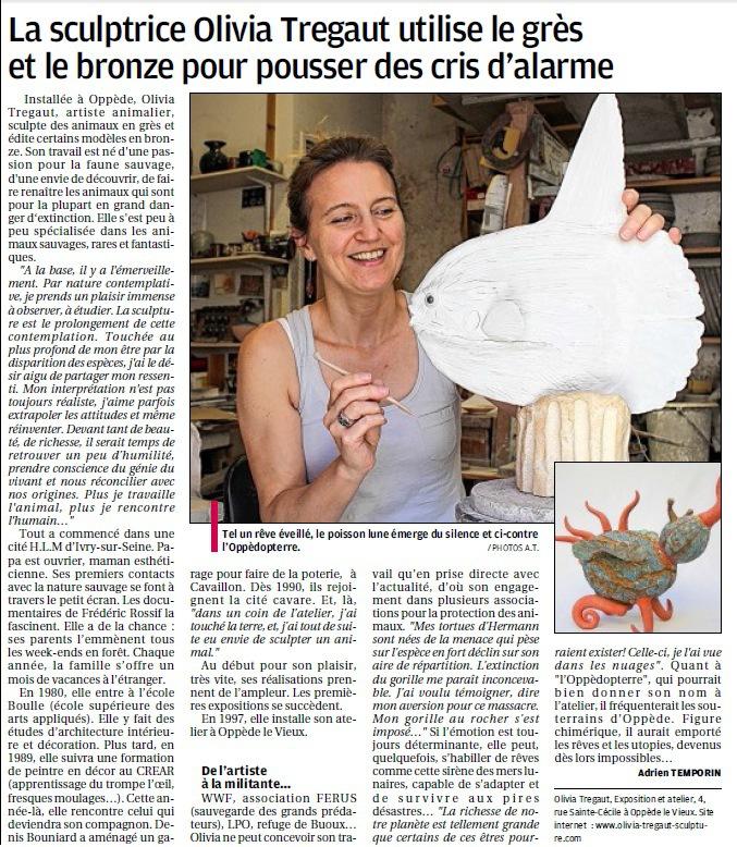 article de presse La Provence,presse,article sur olivia tregaut,presse olivia tregaut, article exposition à l'atelier
