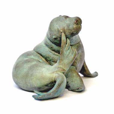 souplesse arrière - Lion de mer - sculpture olivia tregaut - bronze numéroté - fonderie Barthélémy